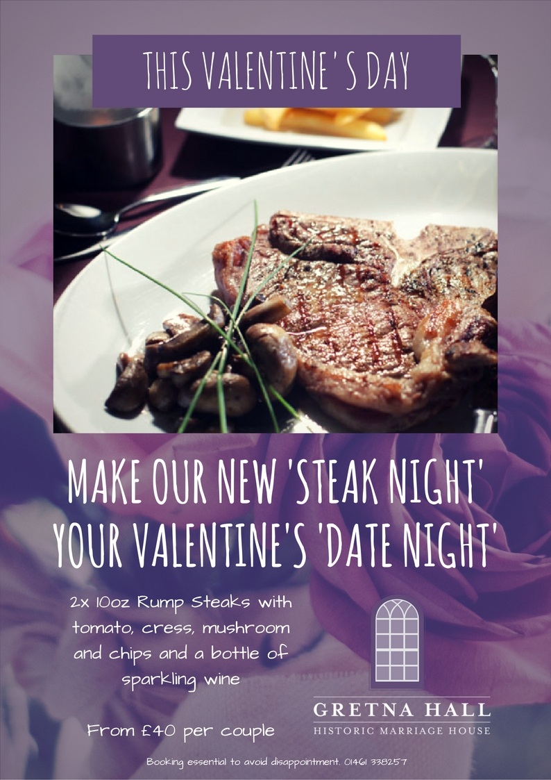 Gretna Hall Valentines Steak